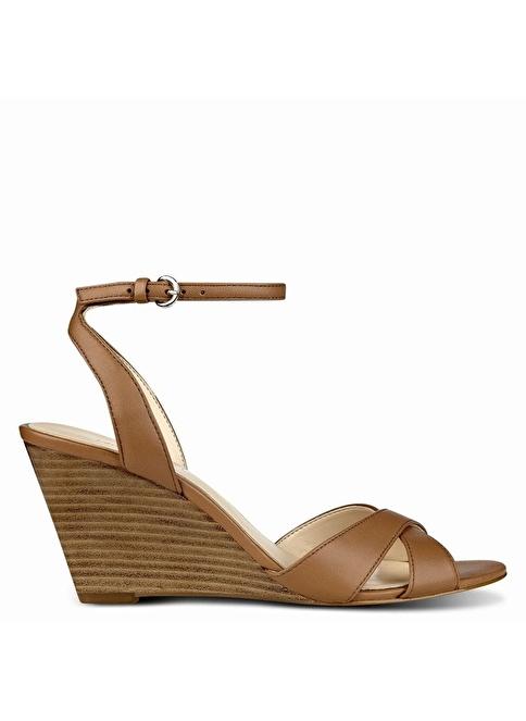 Nine West %100 Deri Sandalet Taba